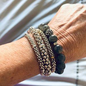 Lagos Sterling 18kGold Silver Caviar Rope Bracelet